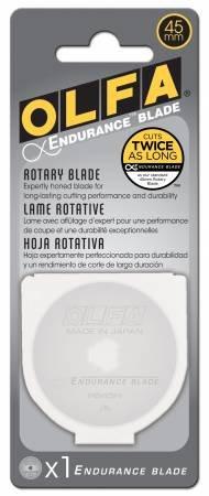 Olfa Endurance Rotary Cutter Blade 45mm - Cuts twice as long!