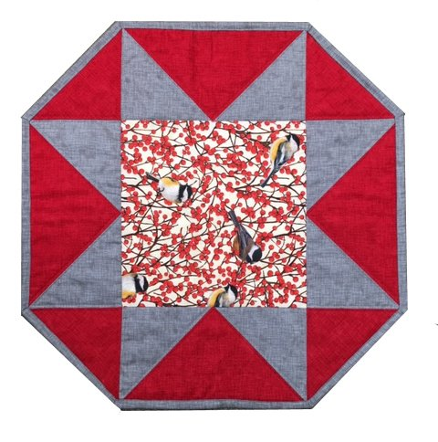 One Big Star -  Table Topper Pattern  -by Pieced Tree Patterns
