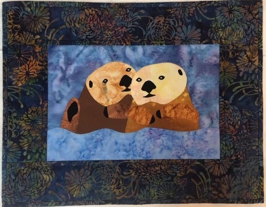 Sample for Sale:  Otter Pals - Wall Hanging
