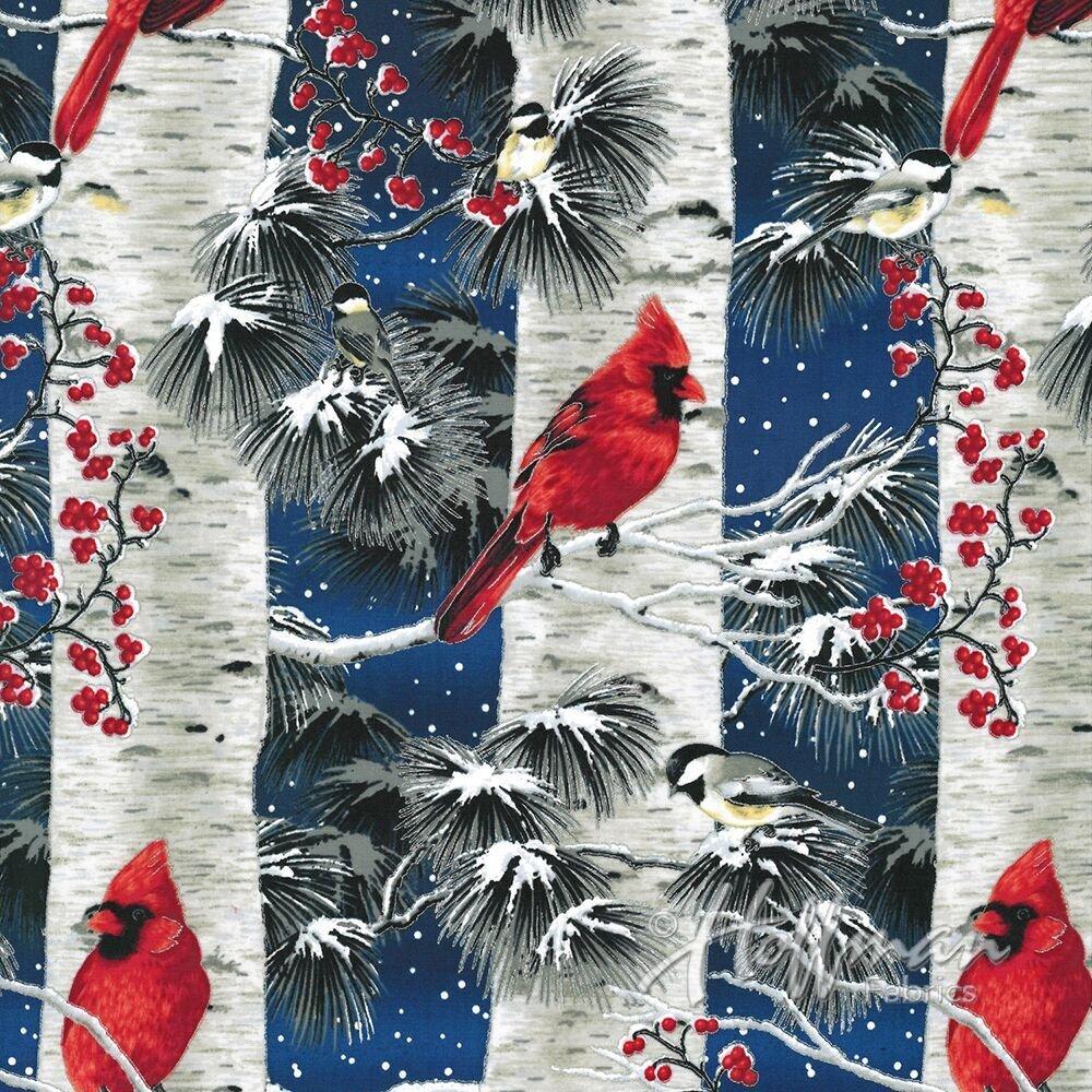 Hoffman A Cardinal Christmas   Cardinal Birch Royal/Silver P7597-18S