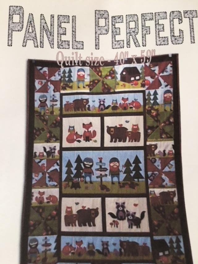 Panel Perfect Quilt Pattern  - for use with Fabric Panels.   40 x 59