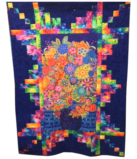 Quilt for Sale:  Panel Perfection featuring Floral Fantasy Panel