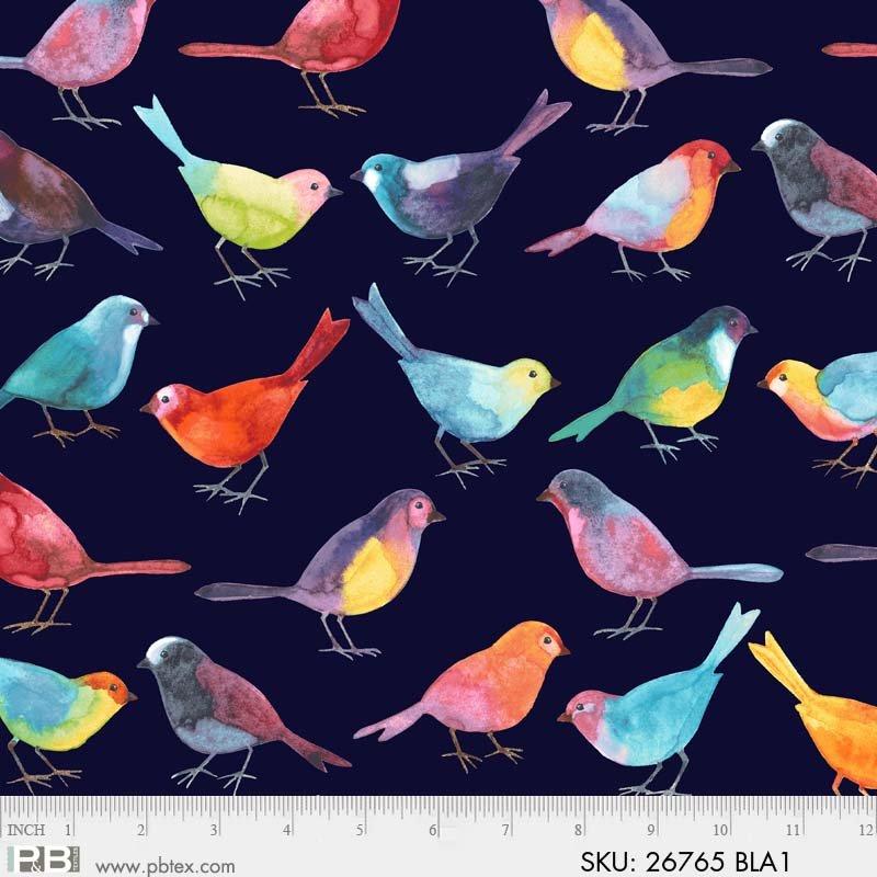 P&B Bird Watchers by Norman Wyatt| Birds 26765 Black
