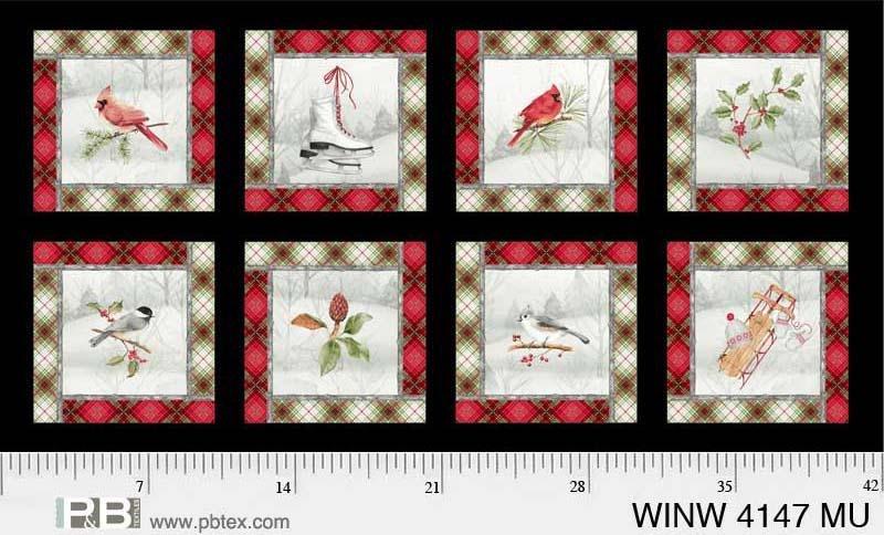 P&B - Winter Wonderland 4147 Multi PANEL 24x44