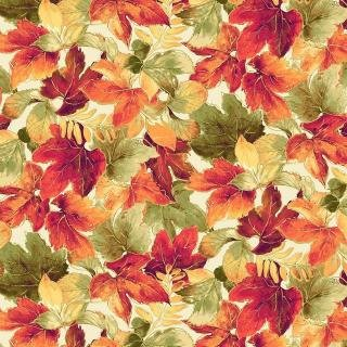 P&B Autumn Spice Metallic Cream -00933-E Fall Leaves Metallic