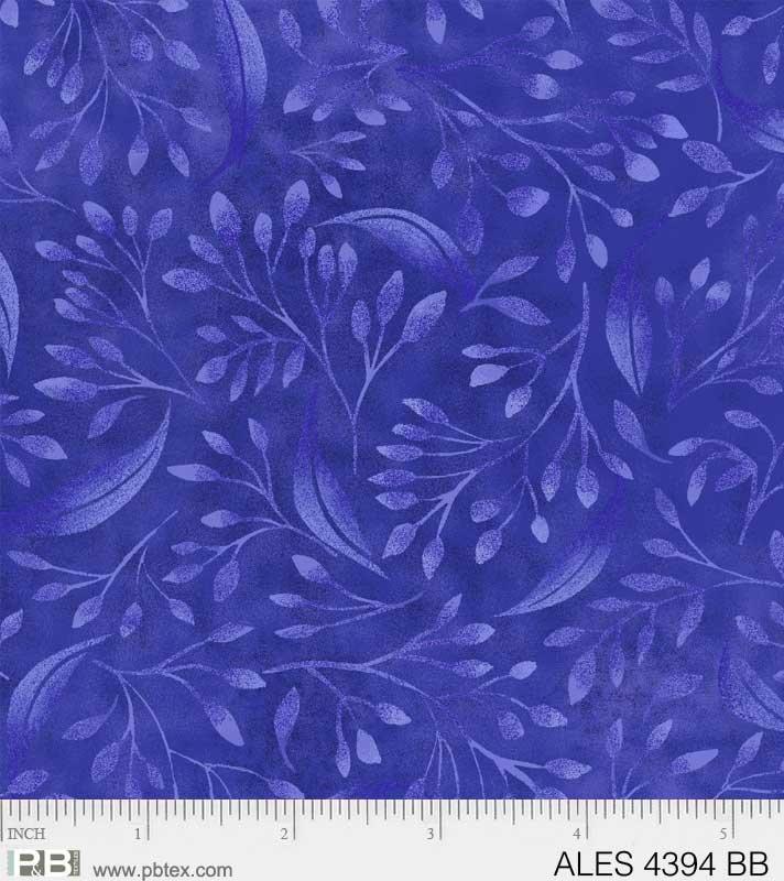 P&B Alessia 108 Wide ALES 4394 BB Bright Blue Branches Vines