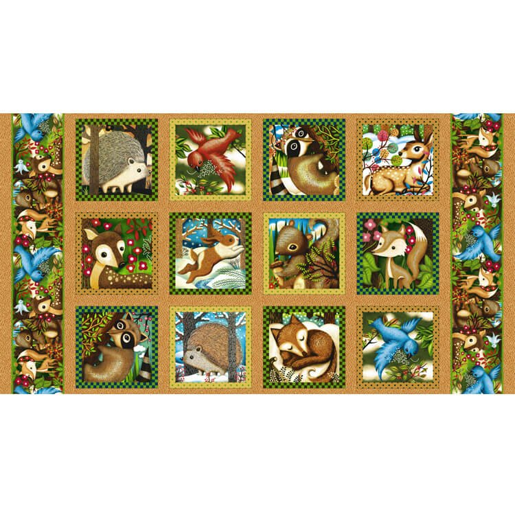 Paintbrush Studio Woodland Friends 120-13701 PANEL