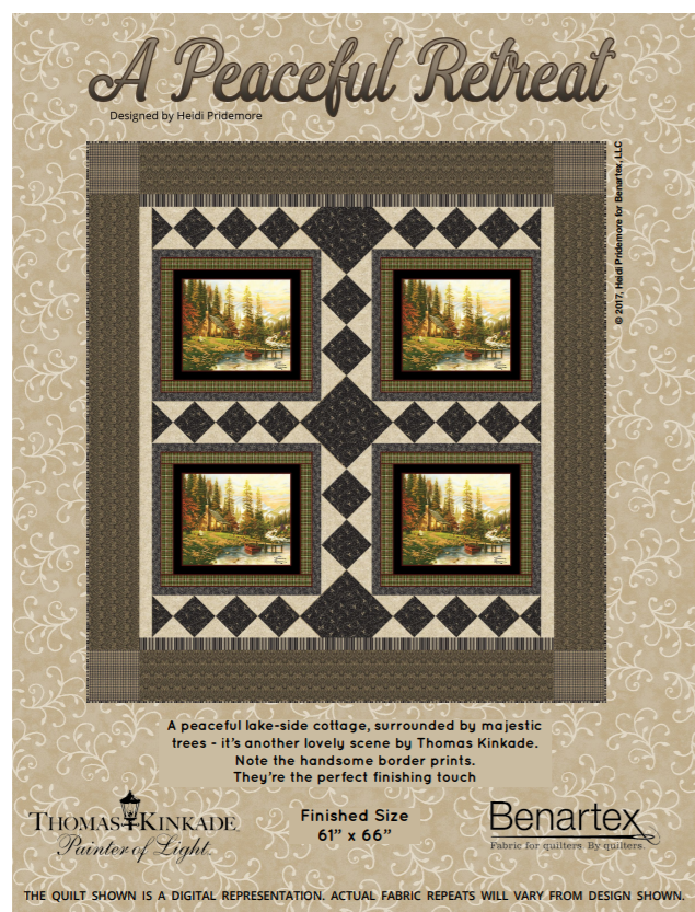 Free Pattern:  A Peaceful Retreat - by Heidi Pridemore for Thomas Kinkade / Benartex Fabrics