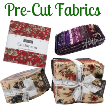 Pre-Cut Fabrics - Jelly Rolls, Charm Packs, Bali Pops, Layer Cakes, Fat Quarter Packs