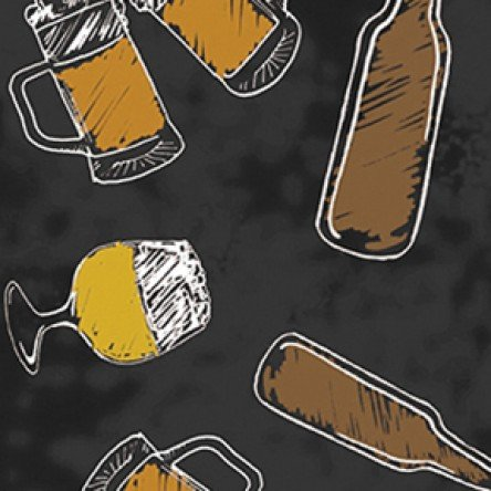 Clothworks Pub Crawl Y2055-3 Black Beer Bottle & Mug
