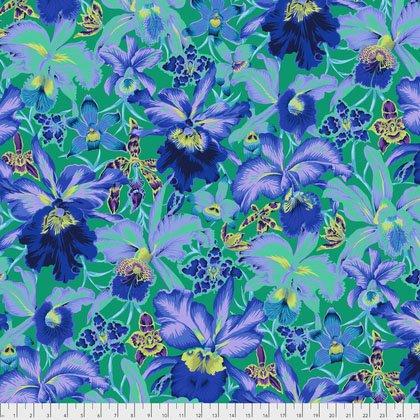 Kaffe Fassett - PWPJ092 BLUEX - Orchids - Blue