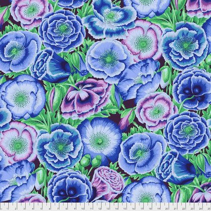 Kaffe Fassett - PWPJ095 BLUEX - Poppy Garden - Blue