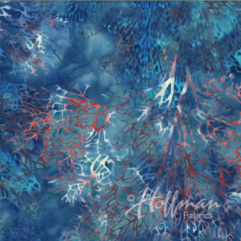 Hoffman Batik Q2101-668-Coral Yankee