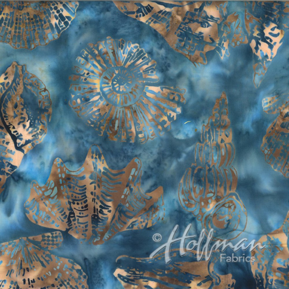 Hoffman Batik Q2102-464 Seashells Pool