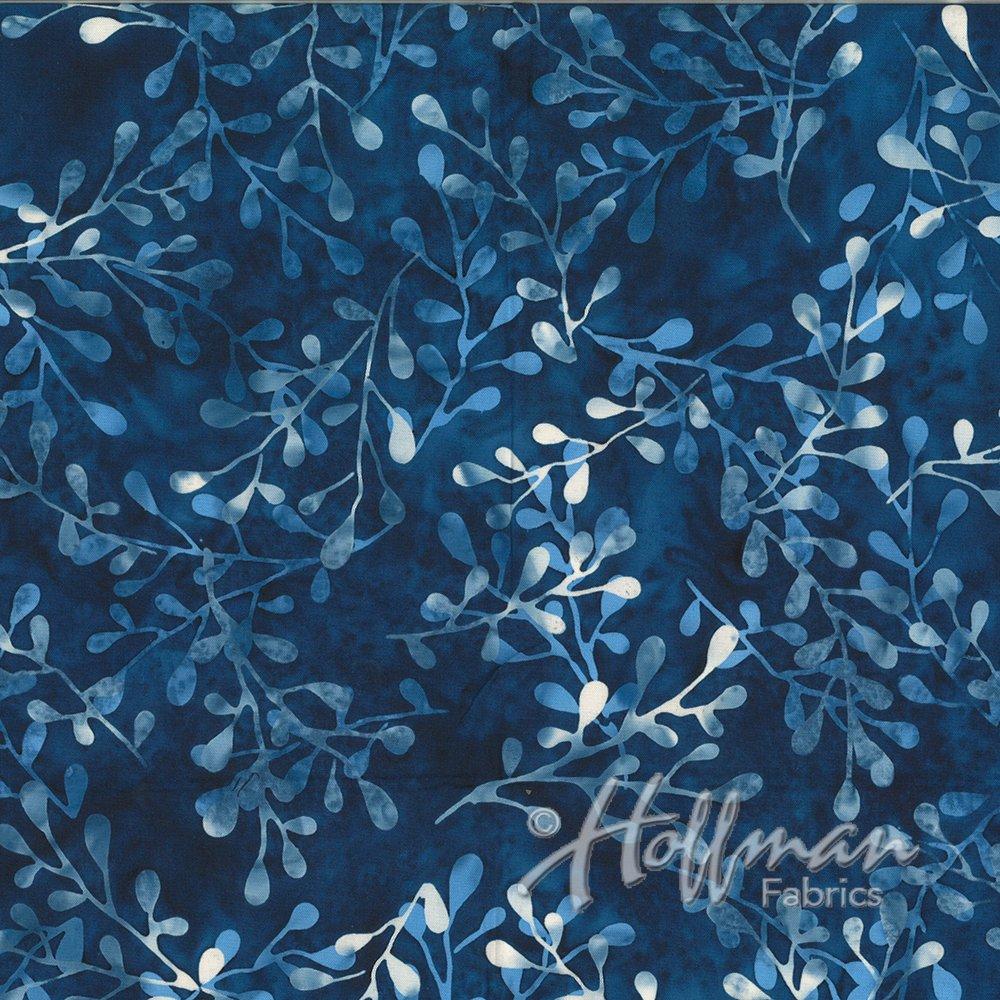 Hoffman Batik Q2110-87-BLUEBERRY
