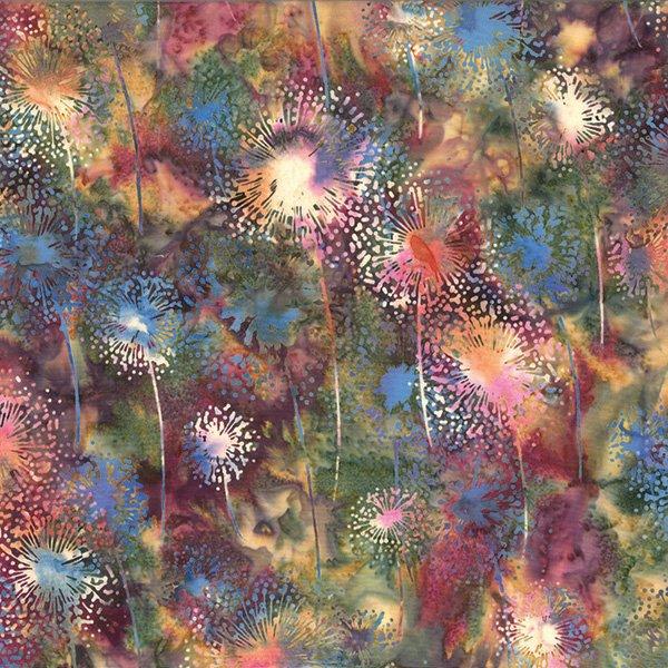 Hoffman Bali Batik - Dandelions Sweet Pea Q2151-447