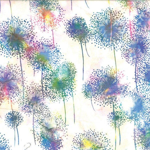 Hoffman Bali Batik - Dandelions Prism Q2151-633