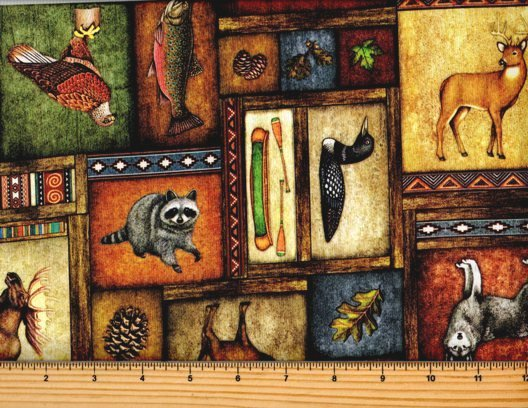 Timberland Trail by Dan Morris - Animal Collage Multi 26805-X