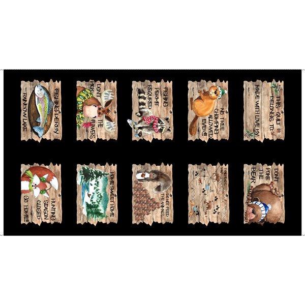 QT Fabrics - NORTH WOODS NEIGHBORS NORTH WOODS PATCH PANEL 26851 J