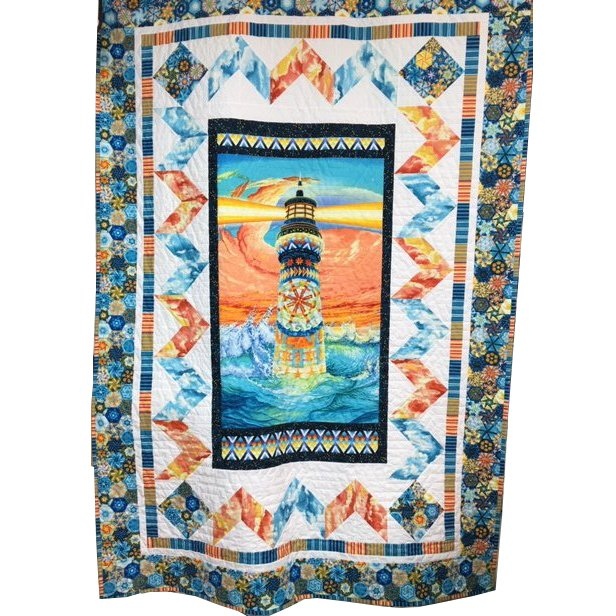 Quilters Lighthouse Quilt Kit featuring Lightkeeper's Quilt fabrics