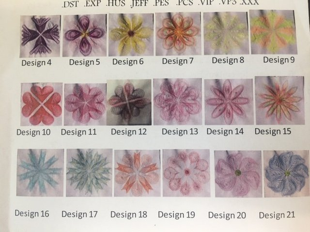 Embroidery CD - Quilting The Thread Art Way - Modern Flowers