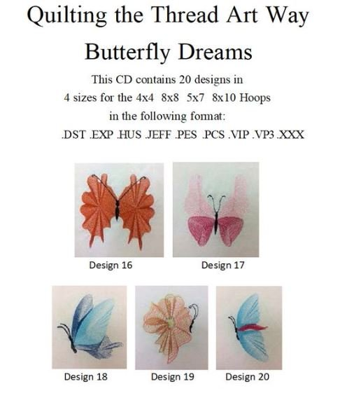 Embroidery CD - Quilting The Thread Art Way - Butterfly Dreams