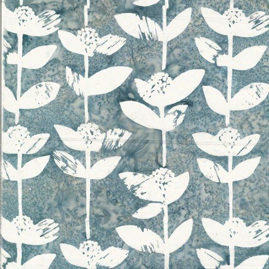 Hoffman Bali Batik: R2241 48 Block Flower Gray
