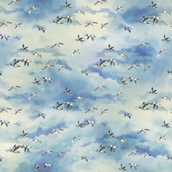Hoffman FLY HOME R4644-288 Birds  - Digitally Printed Fabric