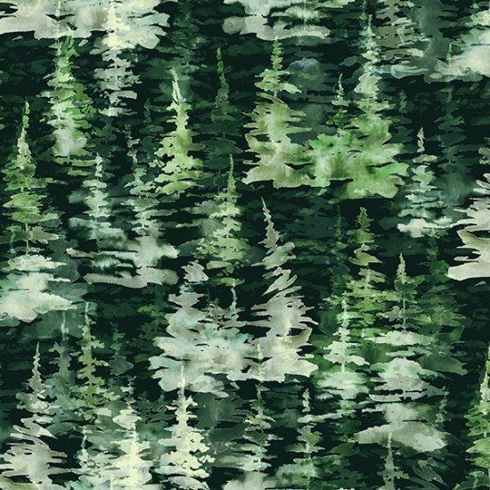Hoffman FLY HOME R4648-44 Pine Trees - Digitally Printed Fabric