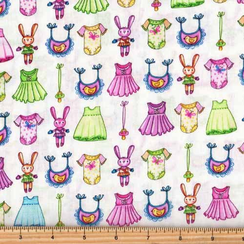 Red Rooster A Bundle of Pink 26404 Multi Bunny Dress