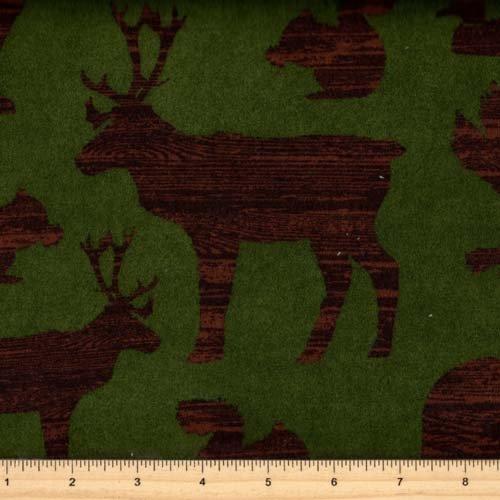 Robert Kaufman Timber Lodge Flannel ARLF-12617-268 Nature