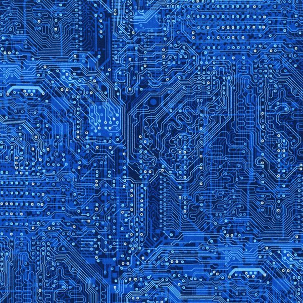 RJR Silver Circuits Computer Fabric 2956-4 Blue Circuit Boards
