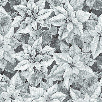 Robert Kaufman - Holiday Flourish 13 SILVER SRKM 19254 186 Poinsettia
