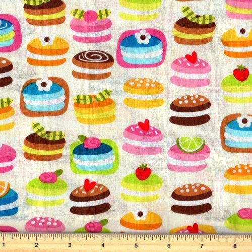 Robert Kaufman Confections AB-13356-15 Ivory Mini Cakes