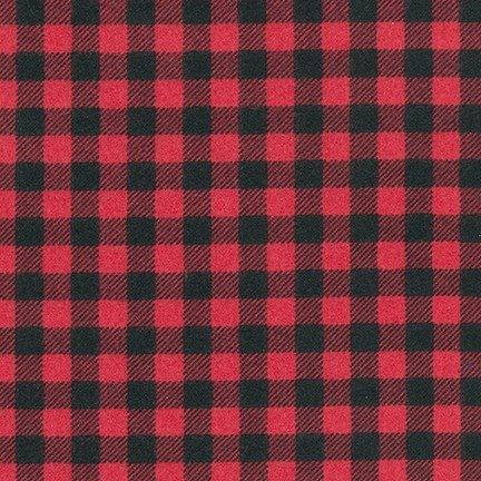 Robert Kaufman Burly Beaver Flannel AHEF-15994-94 Cardinal Red Buffalo Check