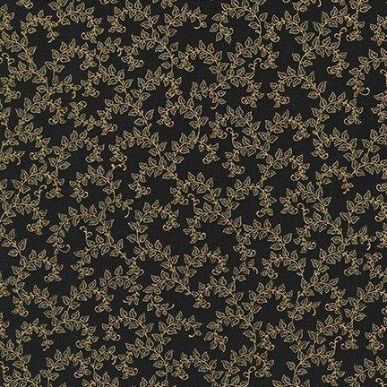 Robert Kaufman Florentine Garden AHYM 19451 2 Black Vines