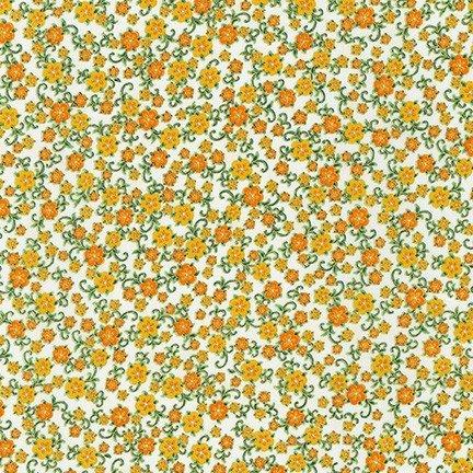 Robert Kaufman Florentine Garden AHYM 19452 15 Ivory Flowers