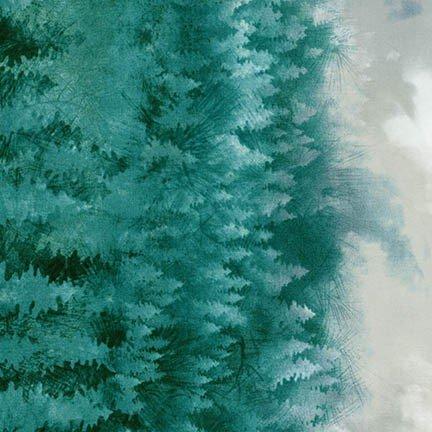 Robert Kaufman Enchanted Pines AYC-15466-73 Lake