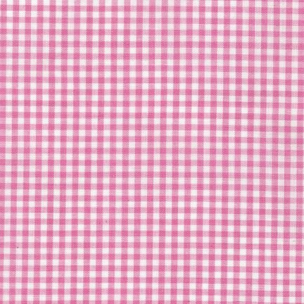 SHOP HOP 2019: Robert Kaufman Carolina Gingham P-5689-15 Candy Pink Check