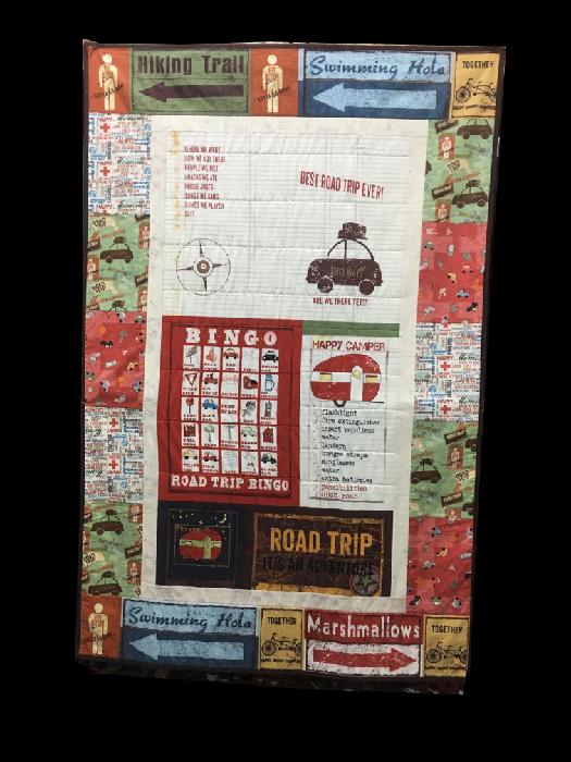 Quilt for Sale:  Road Trip Quilt 37x47