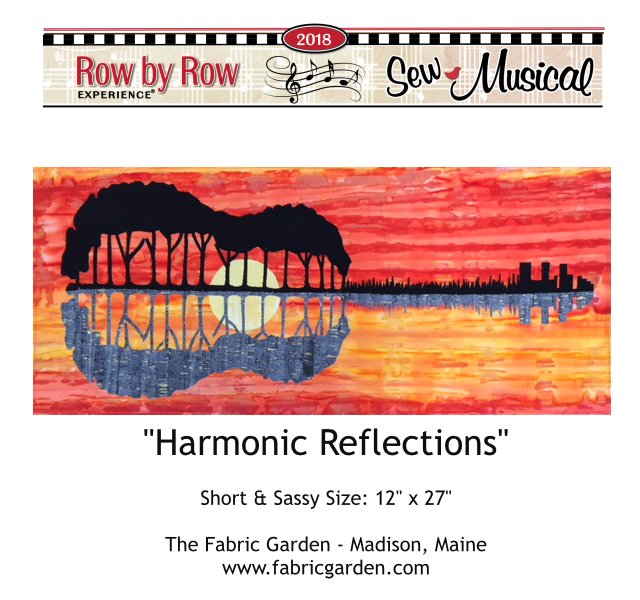 2018 Row By Row Experience  Kit | Harmonic Reflections | Pre-order- Ships Nov 1st