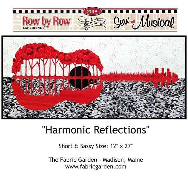 2018 Row By Row Experience  Kit | Harmonic Reflections  RED