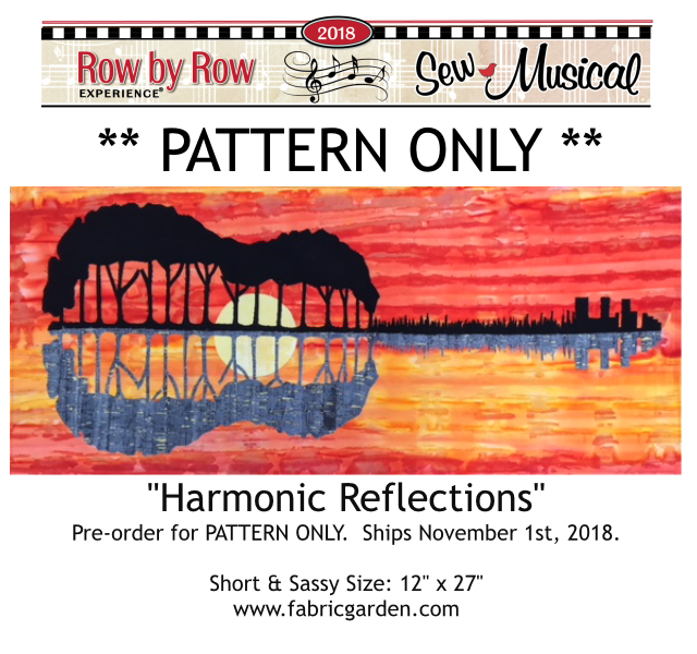 Row by Row Harmonic Reflections PATTERN ONLY