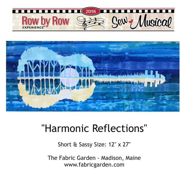 2018 Row By Row Experience  Kit | Harmonic Reflections  AQUA