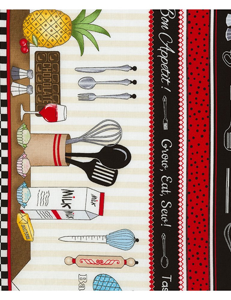 Row by Row - Taste the Experience 2019 - Cooking Stripe Row-C6797-Multi