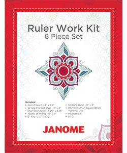 Janome Ruler Work Kit - 6 Piece Set  + DVD