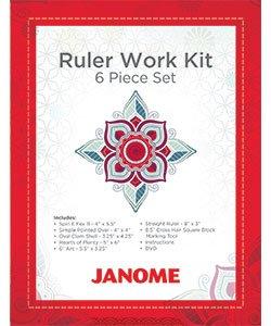 Janome Ruler Work Kit - 6 Piece Set  + DVD