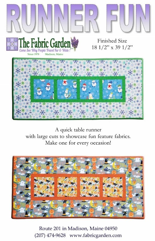 The Fabric Garden-Runner Fun - Quick & Easy Table Runner Pattern