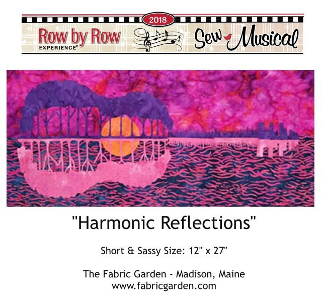2018 Row By Row Experience  Kit | Harmonic Reflections PURPLE