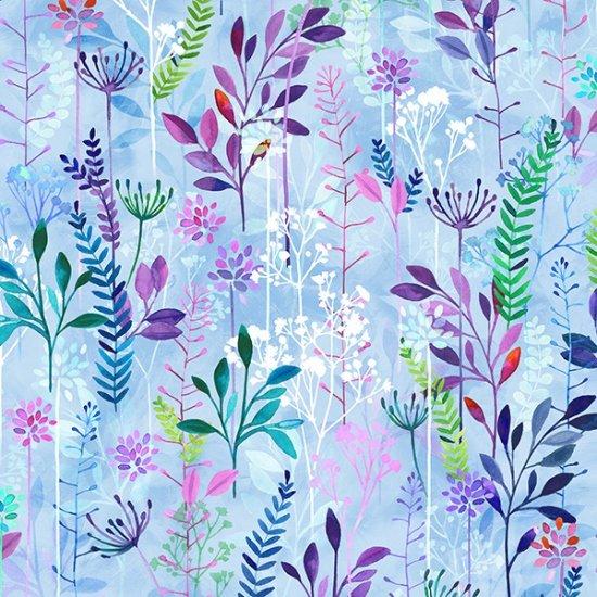 Hoffman | Spring Song S4769 139 Periwinkle Linear Ditsy Floral - Digital Print